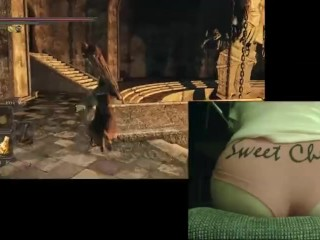 Sweet cheeks plays dark souls 2 dlc part...