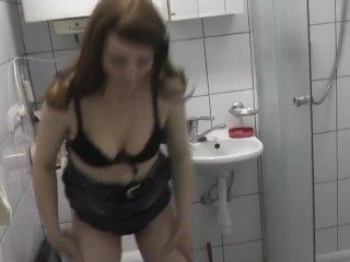 Woman pissing. Golden rain. Piss close up. Pisses in auto. Piss in toilet