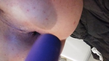 Playing with cum in my ass from BBC