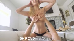 POVD Delivery man fucks and facials blonde Jade Amber