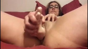 Rubber fist meaty pussy vibrator masturbation