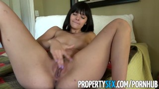 PropertySex - Gorgeous agent with big natural tits fucks homeowner