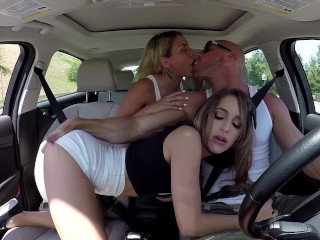 Kimmy Granger Picked up and Dual CreamPied w/ Kissa Sins and Johnny Sins