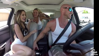 Kimmy Granger Picked up and Dual CreamPied w/ Kissa Sins and Johnny Sins Up threesome