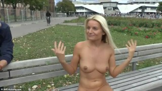 Blonde Teen Paris Naked On Public Streets