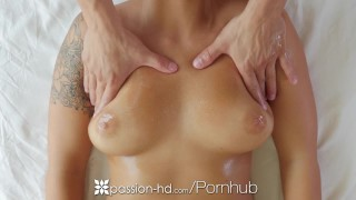 Busty with london oiled layla passionhd fuck up brunette massage hd hottie