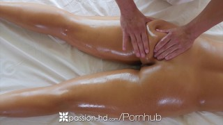 PASSION-HD Oiled up massage fuck with brunette busty Layla London