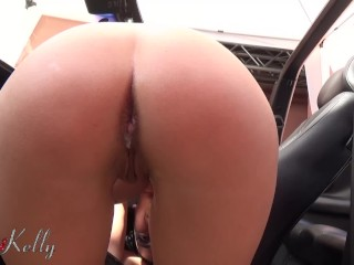 Slutty wife cheating and get very excited for her first anal creampie