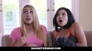 DaughterSwap - Dads fuck the lesbian out of their daughters