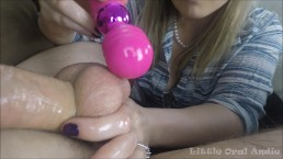 Cum Shaker - Vibrating His Swollen Balls & Edging Restriction Of Orgasm 3X