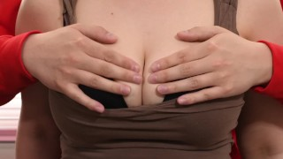 Squeezing Tits Hard