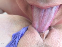MILF Needs A Quickie Orgasm & Creampie - Clit Licking Close Up / Amateur