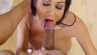 PUREMATURE Busty mature Dayton Rains fucked by big thick dick