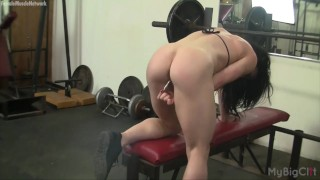 homemade herself before inserting her clit in gym