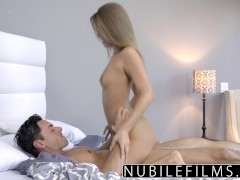 Nubilefilms - tight coed fucks and swallows