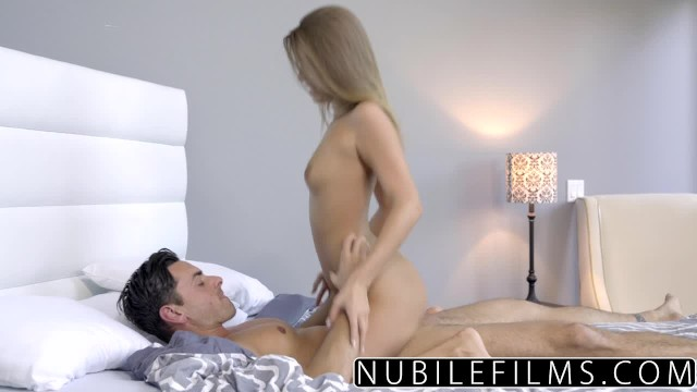 Sexy hot stripping coed - Nubilefilms - tight coed fucks and swallows