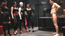 4 Mistresses (Arabella, Electra, Islya and Noir) ballbusting Andrea Diprè