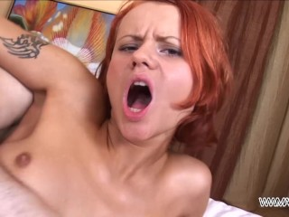 Teenyplayground Anal creampied red head push her ass to big cock