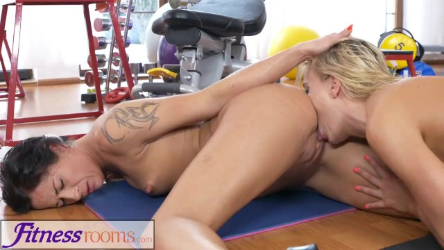 Mature lesbians tribbing tube Fitness rooms milf gym teacher sweaty trib sex session with hot student