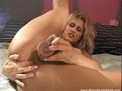 Curly Haired Blonde MILF Alone