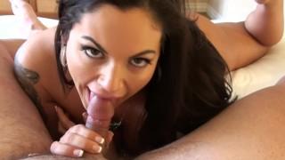 MILF with Big Tits POV Blow Job