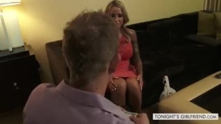 Alexia a satisfies girlfriend pornstar voisse tonight's in lingerie client lingerie big