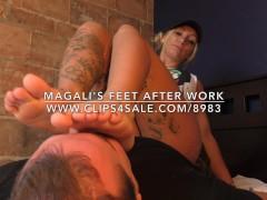 Magali's Feet After Work - www.c4s.com/8983/17751088