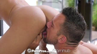 Preview 6 of PORNPROS Welcome home fuck and facial with brunette Adria Rae