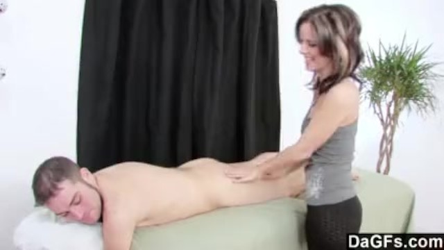 Leyla Bounces Her Big Tits & Jerks Him Off