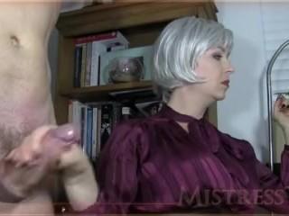Mistress gives slave a super hard on...