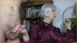 Mistress T Cumshot