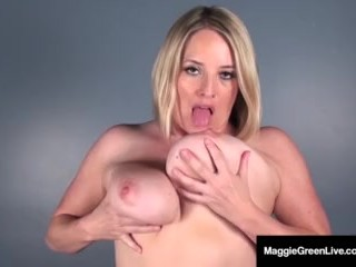 Miss Maggie Green Finger Fucks ASS, Then inserts Big Dildo!