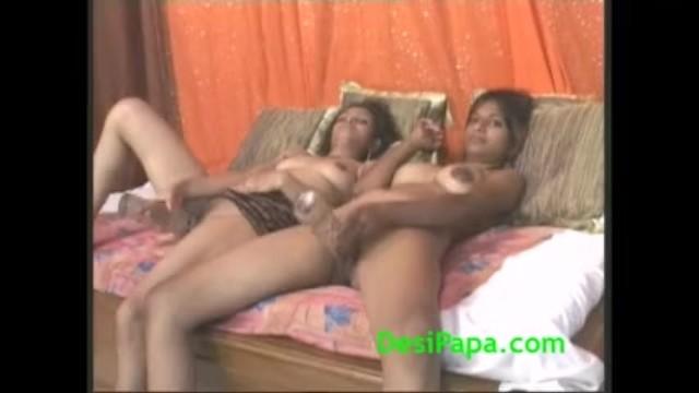 Big dildoe lesbian - Young indian lesbian cutties strapon fucking sharing big dildo
