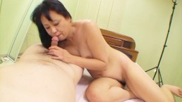 Fit Japanese granny still wants sex in her hairy pussy