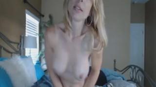 Busty Blonde Babe Dildo Masturbation