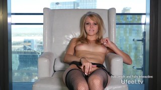 Mai pussy juicy marie's taste getting a of interactive babe fishnet