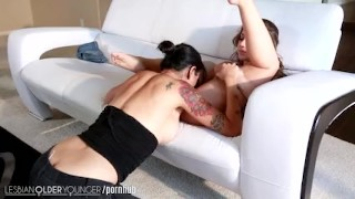 Dana lesbianolderyounger eats out remy mother older