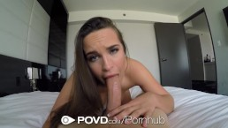 POVD Brunette vacation fuck with Teal Conrad in POV