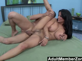 AdultMemberZone - Sophia loves a big cock sliding between her big tits