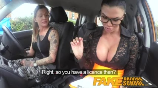 Sexy commercial for new fox show Fake driving school sexy strap on fun for new big tits driver