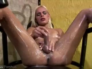 Feminine tranny is jerking her shemeat and teasing butt hole