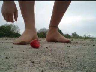 Nylon foot Strawberry crushed ** Crushing Outdoor **