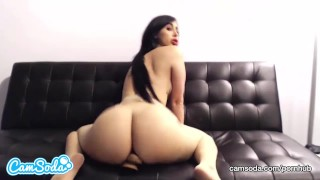 Valerie Kay huge tits and ass bouncing on huge dildo.