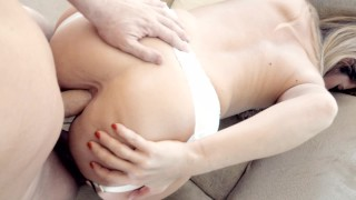 Dirty Ass to Mouth POV fuck with hot girl in nylon Stocking Facefuck & Anal