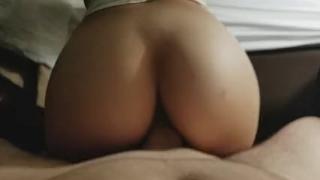 Beautiful College Teen Ass Riding Hard Dick Girl tits
