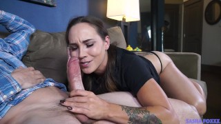 Conniving slut sucks off best friends covfefe #CHEATERS Cumshot sucking