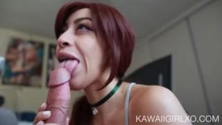 Teen Sucks Cock And Receives An Oral Creampie