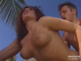 Erika Bella, Busty Redheaded Fucking in a Tropical Beach