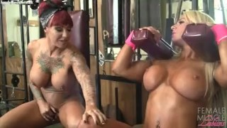 Dani Andrews and Megan Avalon In The Gym Can't Stop Touching Each Other