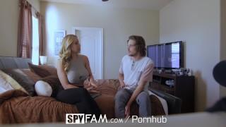 SpyFam Stepson fucks busty stepmom Olivia Austin for first time porno